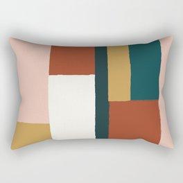 Spring Color Block Rectangular Pillow