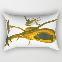 Purple Martin Bird Rectangular Pillow
