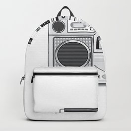 Vintage Portable Radio Cassette Player Retro Backpack