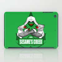 kermit iPad Cases featuring Sesame's Creed by BC Arts