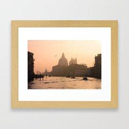 Sunrise on the Grand Canal, Venice, Italy Framed Art Print