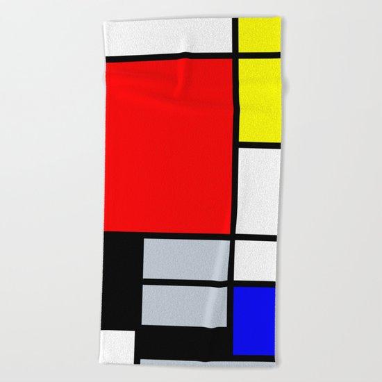 Mondrian Beach Towel