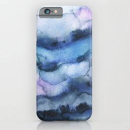 Amethyst abstract watercolor iPhone Case