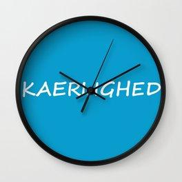 Kaerlighed, Danish Love Wall Clock