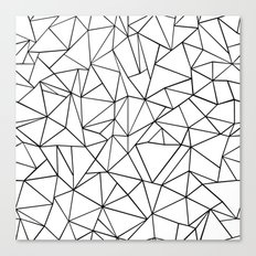 Abstract Outline Black on White Canvas Print