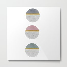 Horizons with Gold Accents Metal Print