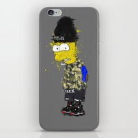 simpson iPhone & iPod Skins featuring Bart Simpson by Haych