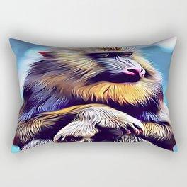 Mandrill Baboon Rectangular Pillow