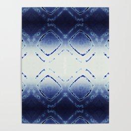 Tie-Dye Dia Blue Poster