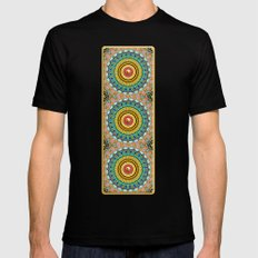 Panoply Pattern MEDIUM Mens Fitted Tee Black