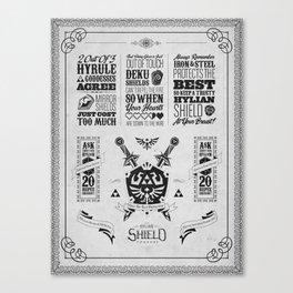 Legend of Zelda - The Hylian Shield Foundry Canvas Print