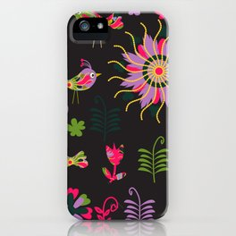 Birds in black background iPhone Case