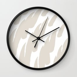 Neutral Abstract Brush Marks Wall Clock