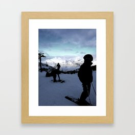 Up here with wonderful views Framed Art Print