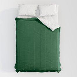 Tropical Zebra-complimentary dark green Comforters
