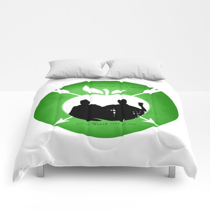 OUTLAW QUEEN (Green) Comforters