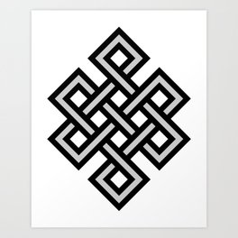 Tibetan knot symbol Art Print
