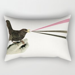 Bird in the Hand Rectangular Pillow