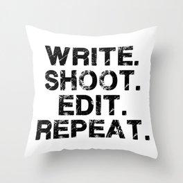 Movie director. Screenplay. Film buff. Movie buff Throw Pillow