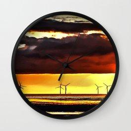 Sun going down Wall Clock