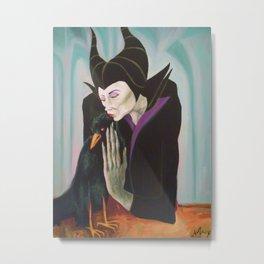 Sorceress with Raven Metal Print
