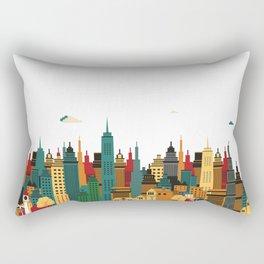 Cityscape illustration. Rectangular Pillow