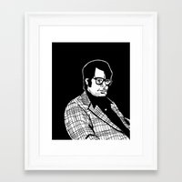 stephen king Framed Art Prints featuring Stephen King by Corinne Halbert