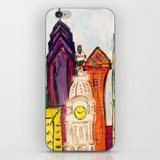 Philadelphia Skyline with Sports Teams: LOVE Statue, Phillie Phanatic, and Eagles iPhone & iPod Skin