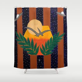 Lights in the Sky #3 Shower Curtain