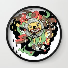 Skate and Destroy Wall Clock