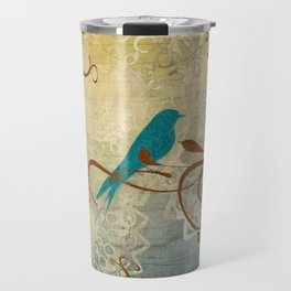 Bleu Birds Travel Mug