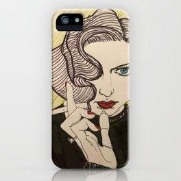 smoky dame iPhone Case