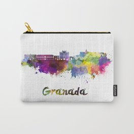 Granada skyline in watercolor. Carry-All Pouch