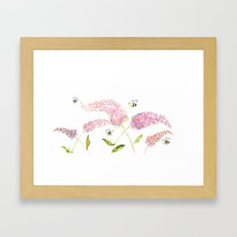 Of Buddleias & Bumble Bees Framed Art Print