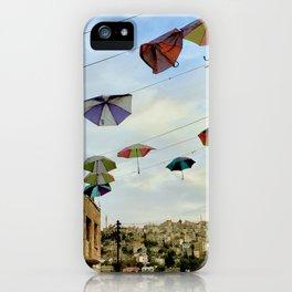 Umbrellas over Amman~ Jordanian joyful sight iPhone Case