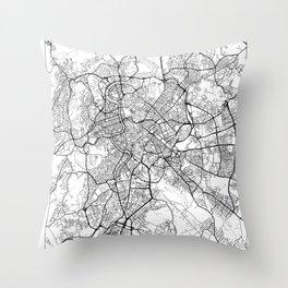 Rome Map White Throw Pillow