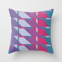 Abstract Drama #society6 #violet #pattern Throw Pillow
