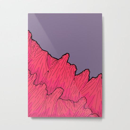 The mauve sky rocks Metal Print