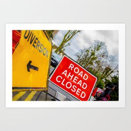 Diversions.....story of British roads Art Print
