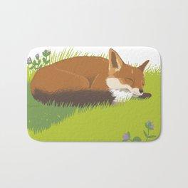 Snoozy Red Fox Bath Mat