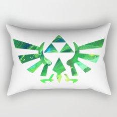 The Legend of Zelda Triforce Green Rectangular Pillow