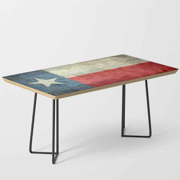 Texas State Flag Retro Style Coffee Table By Brucestanfieldartistamerica