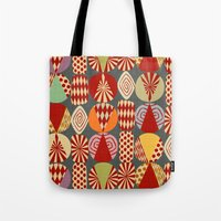 blankets Tote Bags featuring christmas tree MINIMALIST by Chicca Besso
