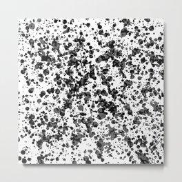 black splatter Metal Print