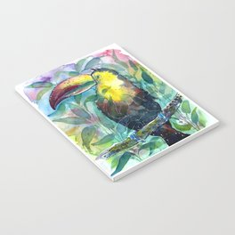 TOUCAN, watercolor illustration (nature) Notebook