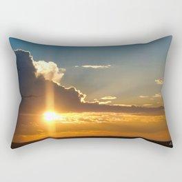 Nostalgic sunset over the Kalahari desert Rectangular Pillow