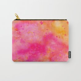 Pink & Orange Watercolor Background Carry-All Pouch