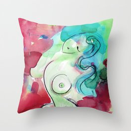 Abstract Nude Goddess 11d by Kathy Morton Stanion Throw Pillow