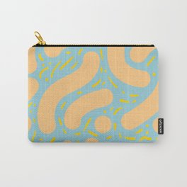 Wibbly Wobbly - Peach, Marigold and Greyish Blue Carry-All Pouch