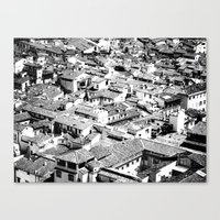 florence Canvas Prints featuring Florence by frankWAYNE